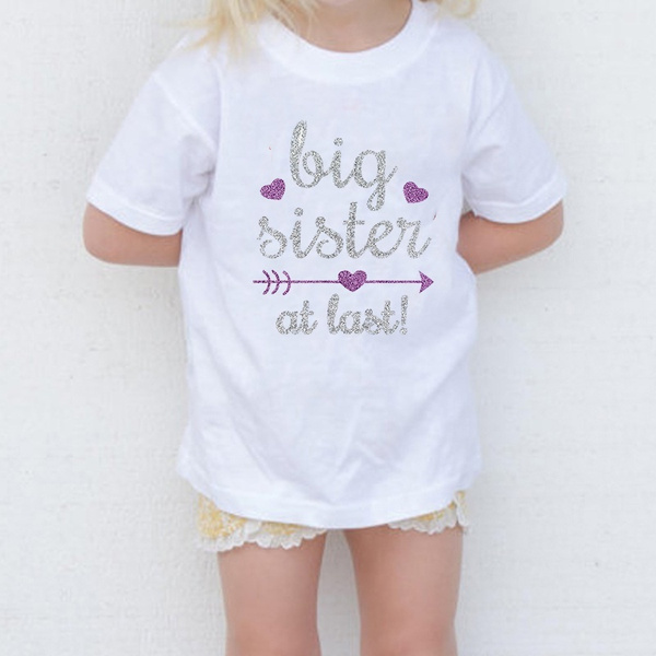 Big Sister Shirt Big Sister Announcement Toddler Shirts Promoted to Girls Outfit