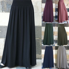 long skirt, Plus Size, high waist, Vestidos