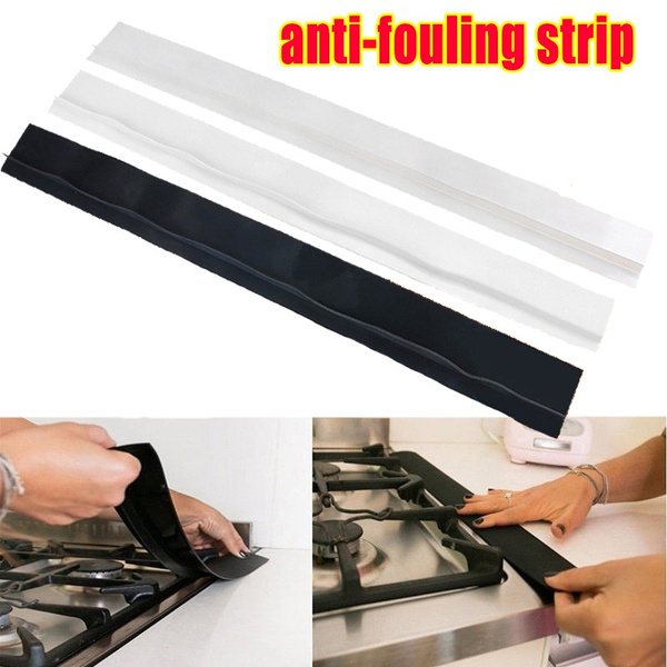 Kitchen Stove Counter Silicone Gap Cover Filler Strip Oven Guard Spill Seal Slit
