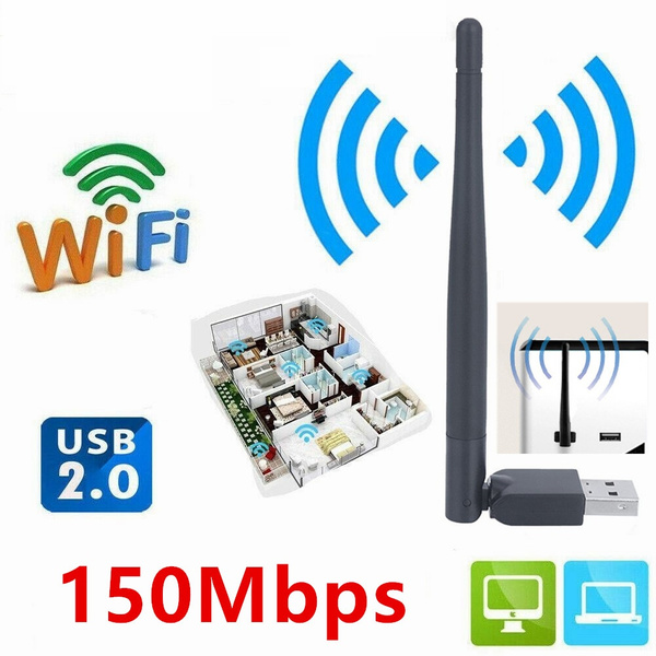 Built-in Smart Antenna Adopt New Wireless Transmission Technology High Sensitivity RT5370 WiFi Receiver Zopsc USB Wireless Card Adapter with Simulate AP Function.