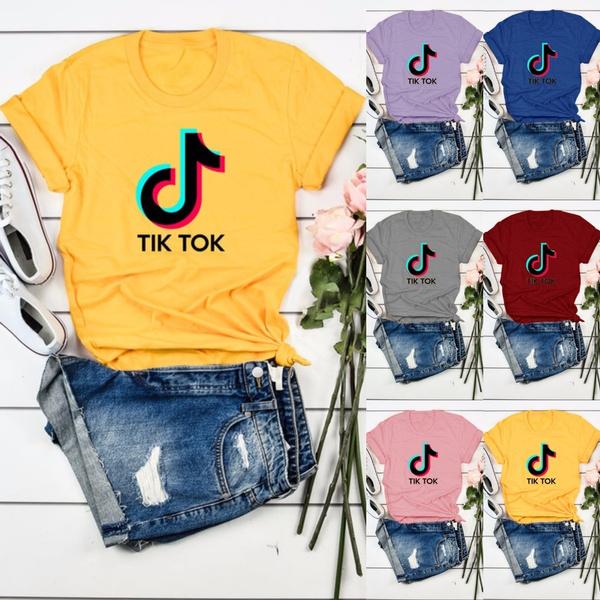 Plus Size, Cotton T Shirt, letter print, graphic tees women