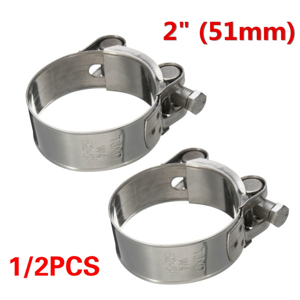 Motorcycle Muffler Silencer Band Exhaust Pipe Clamp Caliper 51mm 2/""