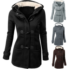 thickwarmcoat, woolen coat, Plus Size, Coat