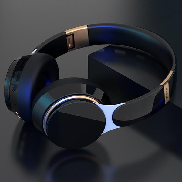 Stereo Bluetooth Headphones Wireless Headset Heavy Bass Hi Fi Earphones Over Ear Bluetooth Headphones With Mic For Phone Pc Tv Travel Work Wish