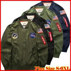 flightjacket, Stand Collar, Plus Size, coatsampjacket