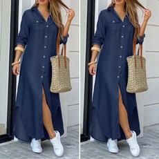 denim dress, kleiddres, dressesforwomen, shirt dress