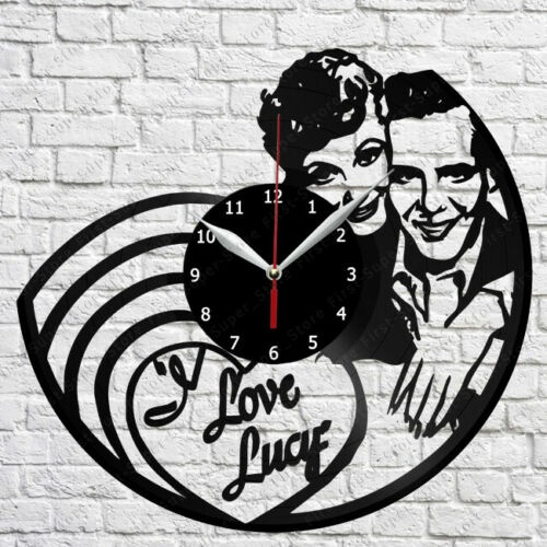 Love Lucy Vinyl Clock Record Wall