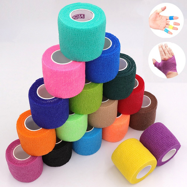 10 Colors Colorful Athletic Wrap Tape Self Adhesive Elastic