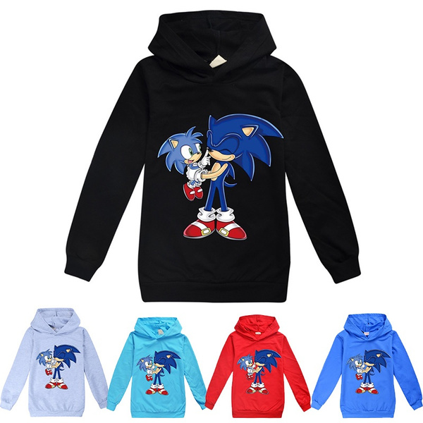 Children Hoodies Sonic The Hedgehog Cartoon Sweatshirt Boys Girls Spring Autumn Coat Kids Casual Outwear Clothing Wish