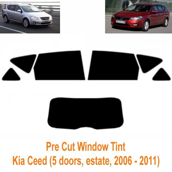PSSC Pre Cut Rear Car Window Films for Kia Ceed Estate 2006 to 2012 20/% Dark Tint