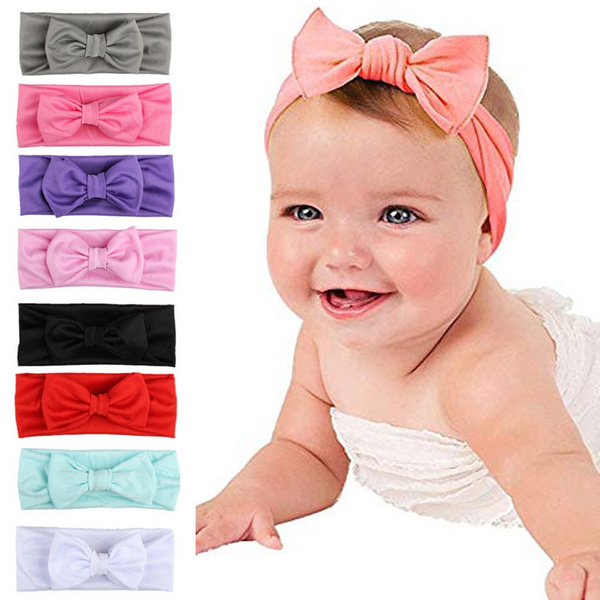 Girl Toddler Infant Turban Knot Rabbit Headbands Bow Head Bands Chic