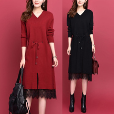 knitwear, Plus Size, long sleeve dress, Long Sleeve