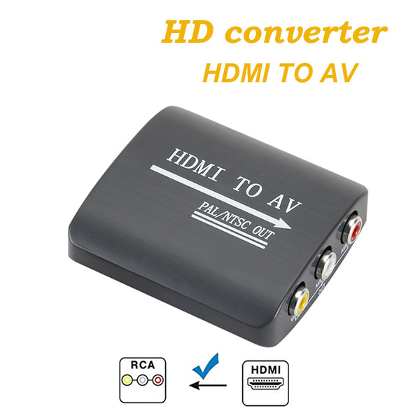 HDMI to 3RCA AV CVBS Composite /& S-Video R//L Audio Converter Adapter Upscaler