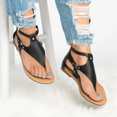 Flats, Fashion, Hollow-out, beach shoes