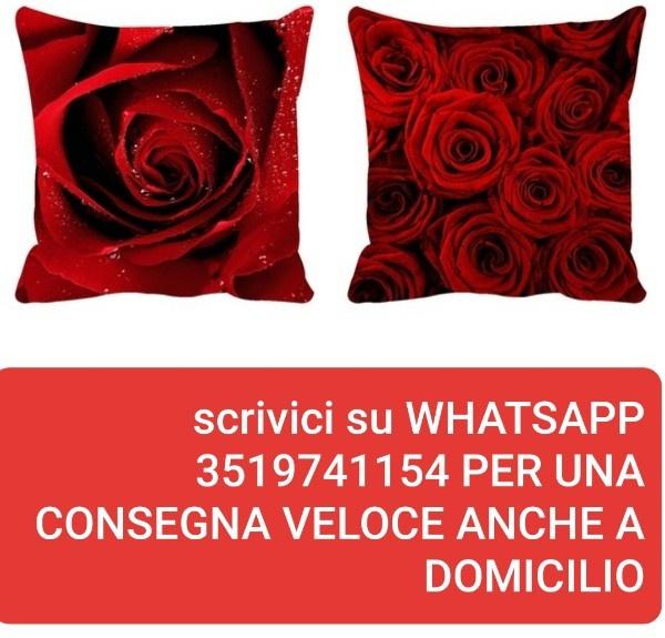 Federe Cuscini Romantiche.Federa Fodera Cuscino Rose Rosse 45x45 Nuovo 0079 Wish