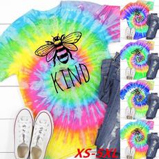 gradientcolor, shortsleeveshirtforwomen, Tie Dye, rainbowshirt