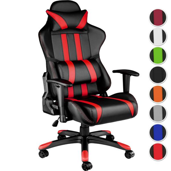 Chaise fauteuil siège de bureau racing sport tissu baquet voiture réglable | Geek