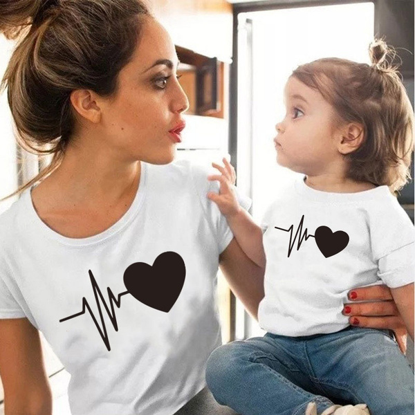 Cotton, momanddaughtermatchingclothe, Family, mothersonoutfit