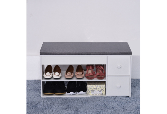 Home Simple Modern Shoe Storage Stool Fashion Sofa Bench Change Shoe Bench Shoe Rack