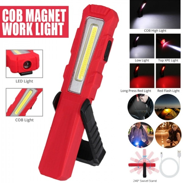 Rechargeable 25 COB LED Work Light Bright Flashlight Inspection Lamp Magnetic
