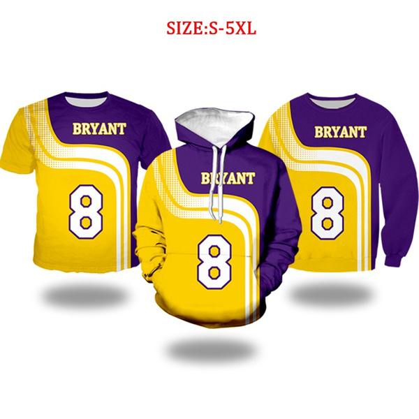 2020 New Fashion Design Black Mamba Kobe Bryant Basketball Sweatshirt Number 8 Men And Women Fashion Street Casual 3d Printing Hoodie Sweater T Shirt Wish