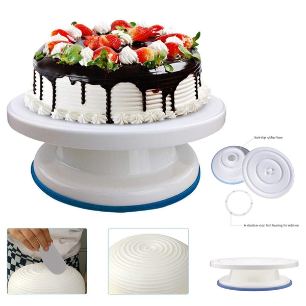 Enjoyable Birthday Cake Turntable Rotating Plastic Anti Skid Cake Decor Birthday Cards Printable Benkemecafe Filternl
