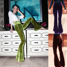 Women Pants, boho, Fashion, velvet
