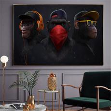 art print, Decor, art, monkey