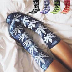 Cotton, weedsockswomen, Cotton Socks, leaf