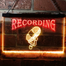 Microphone, opensign, mancavedecoration, LED sign