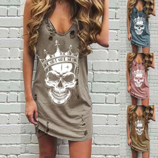 Summer, Fashion, skull, skullprint