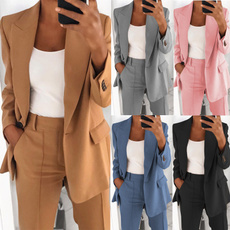 Turn-down Collar, suitforwomen, Fashion, pants
