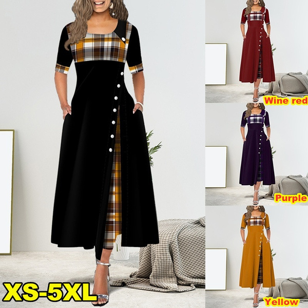Plus Size, Sleeve, long dress, Dress
