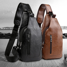 Outdoor, usb, slingshoulderbag, leather