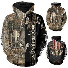 huntingcamohoodie, 3D hoodies, Fashion, Cosplay