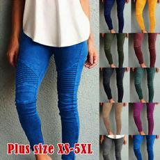 Leggings, elastic waist, high waist, pants