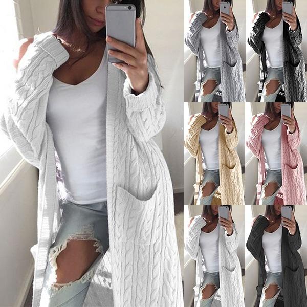 Pocket, cardigan, Winter, Sleeve