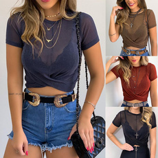 blouse, Tops & Tees, Plus Size, crop top