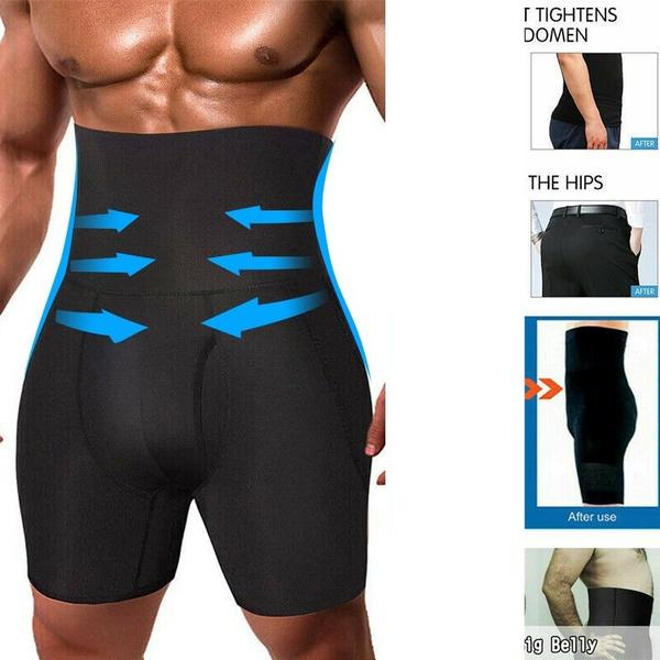 Men/'s High Waist Body Pants Abdomen Shaping Shorts Slim Compression Underwear