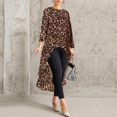 Plus Size, long sleeve blouse, Shirt, tunic top