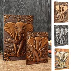 sketchbook, planner, Elephant, leather