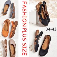 Summer, Plus Size, Womens Shoes, Flats