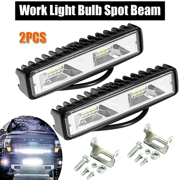 1x Fog Light 18W 12V 16LED Car Work Bar Beam Lamp For SUV Off-Road Universal