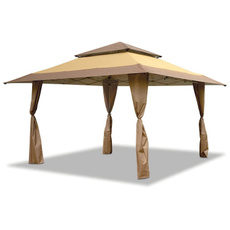 brown, Sports & Outdoors, outdooreventgazebo, eventshadecampinggazeboscreenshelter