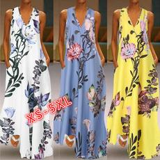 Swing dress, Plus Size, Floral print, Necks