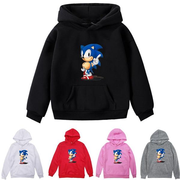 Men Women Winter Hooded Sweatshirt Parent Child Clothes Children Casual Clothes Boys Girls Sonic The Hedgehog Pullover Coat Wish