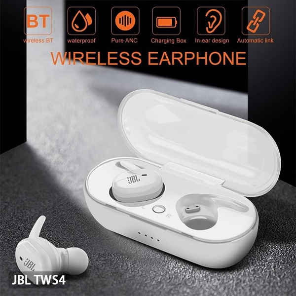 2020 Refurbished Jbl Tws 4 In Ear Sports Earphones Wireless Bluetooth Headphones For Smartphones With Charging Case Wish