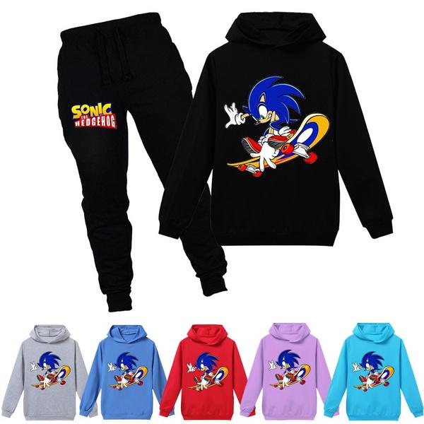 Sonic The Hedgehog Hoodie Children S Sweatshirt T Shirt Pants 2 Baby Toddler Girl Jacket Children S Clothes Boy Casual Sportswear Cartoon Wish