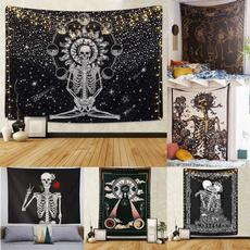 skeletonhead, Wall Art, Skeleton, Black And White