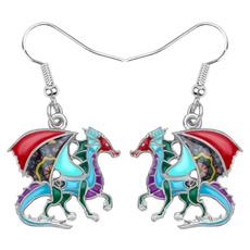 Fashion, dinosaurearring, Earring, Women's Fashion